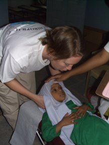 Dr. Kristen Bobik working in India